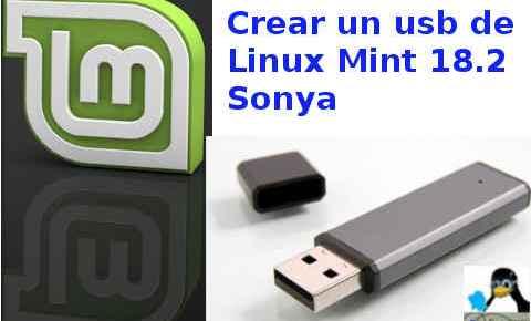 Crear un usb de Linux Mint Sonya y no gastes un dvd