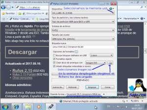 Crear usb de Linux Mint Sonya con Rufus
