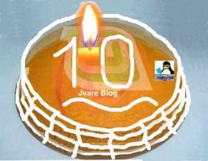 Tarta Cumple 10 años de Jvare Blog