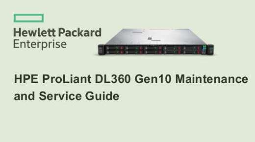 Todos los Manuales HPE Proliant DL360