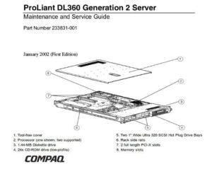 Manual Proliant DL360 Gen2