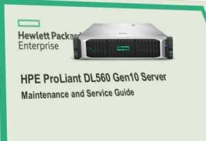 Proliant DL560, manuales gen 10
