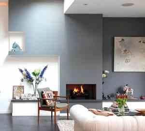 sala de estar gris satinado