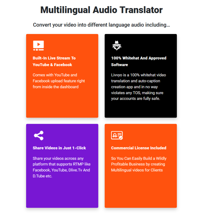 Livvyo PRO Multilingual Video Translator Software By Misan Morrison