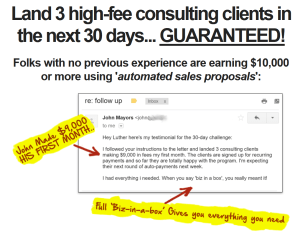 The 3 Clients In 30 Days Challenge By Luther Landro - Earn $10,000 Or More Using 'Automated Sales Proposals'!