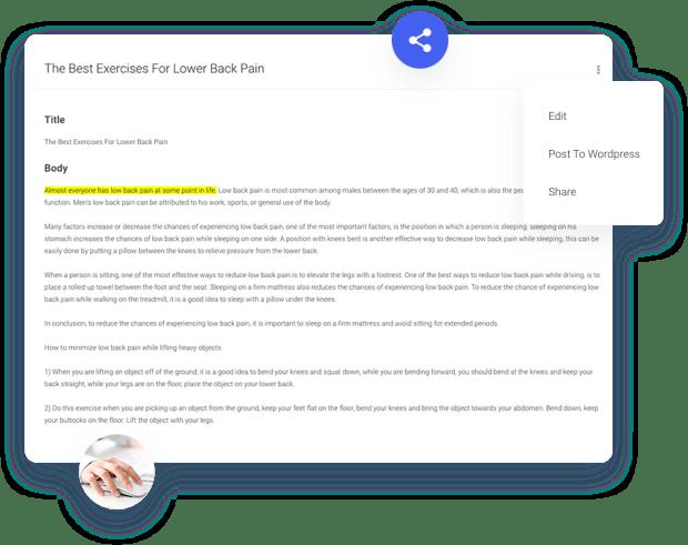 Creaite App - Artificial Intelligence Text Generator