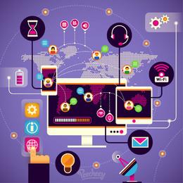 31a366d0e371e9717133c0353f5f1613-high-tech-modern-communication-infographic
