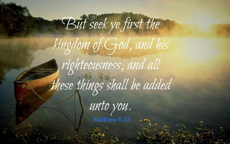 First Things First Matthew 6 33