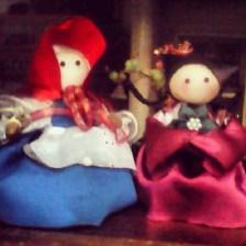 dolls from Yakult bottles