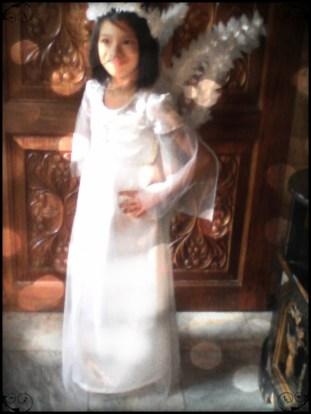my daughter's angel costume