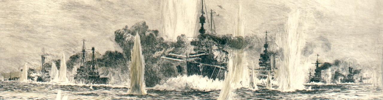 Admiral Beatty's Battle Cruisers at Jutland by William Lionel Wyllie - Cut(1)