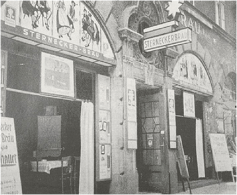 Beer Tavern Sterneckerbraeu Munich, Adolf Hitler's first contact with the Nazi Party Munich
