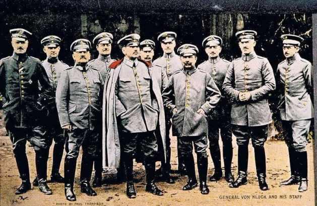 Alexander von Kluck and the Staff of 1st Army