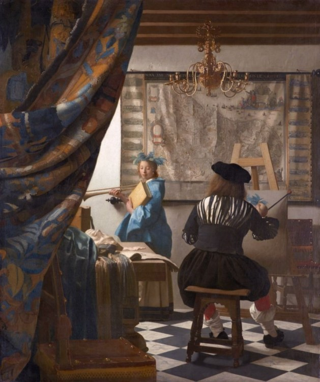 Clio - The Muse of History in Jan Vermeer's famous allegory
