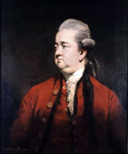 Portrait of Edward Gibbon (1737-94) c.1779 (oil on canvas) by Reynolds, Sir Joshua (1723-92)