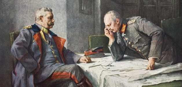 Generals Paul von Hindenburg and Erich von Ludendorff