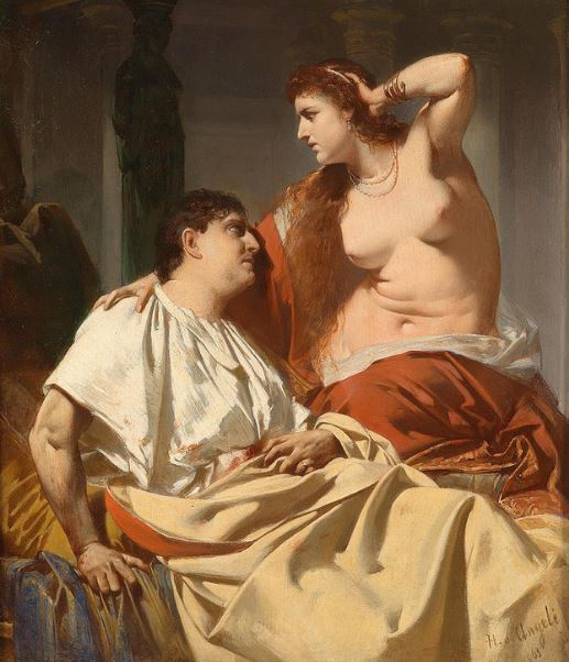 Cleopatra And Antony Painting by Heinrich von Angeli