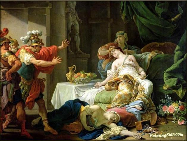The Death Of Cleopatra Artwork By Louis Jean François Lagrenée