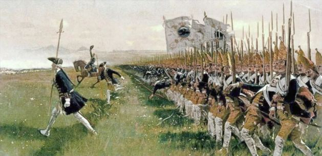 Attack of the Prussian Infantry at the Battle of Hohenfriedberg 1745