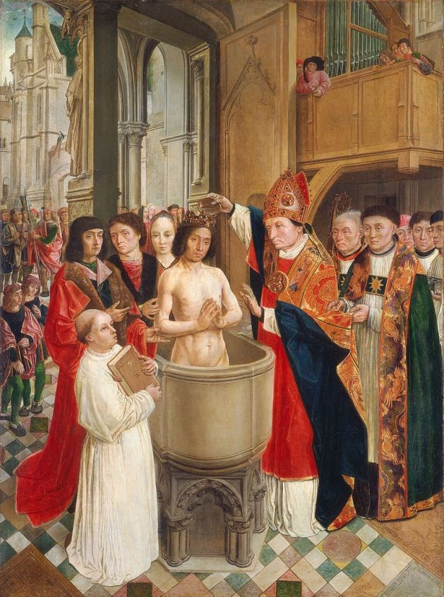 Baptism of Chlodwig, around AD 496