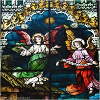 CHRISTMAS WINDOW (detail), 1902, St. Michael Church, Chicago. Franz Mayer & Company, Munich, Germany.