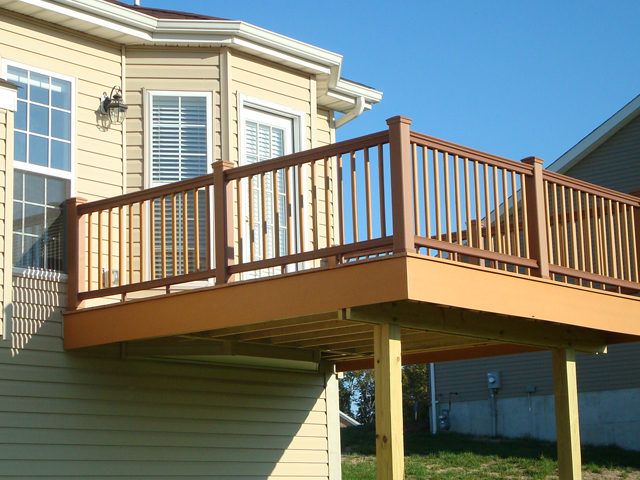 balcony 2nd story deck patio builders