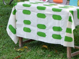 Table Cover – Cucumber Pattern