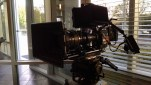 In between takes, sun setting beautifully, Red Dragon on dolly