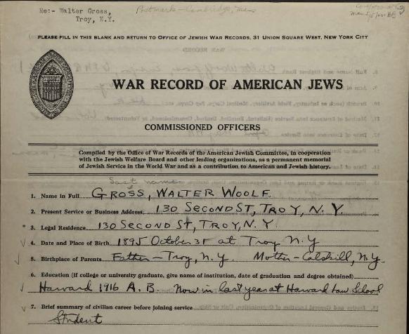 walter gross war record