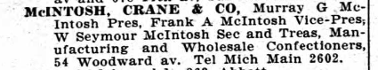 1908 City Directory McIntosh