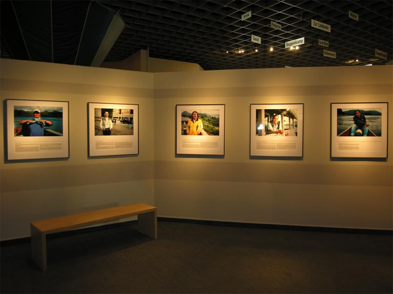 Photo display at the museum in Germany