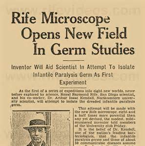 JWLABS Rife Technology Microscope Opens New Field in Germ Studies Article