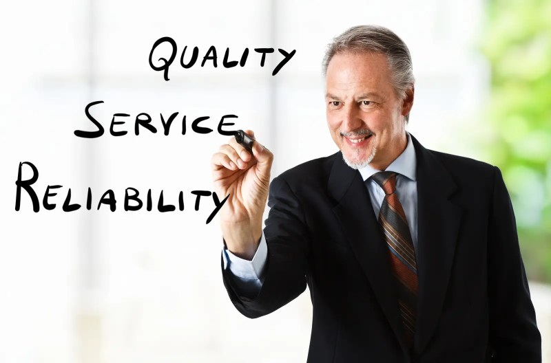 quality service reliability picture