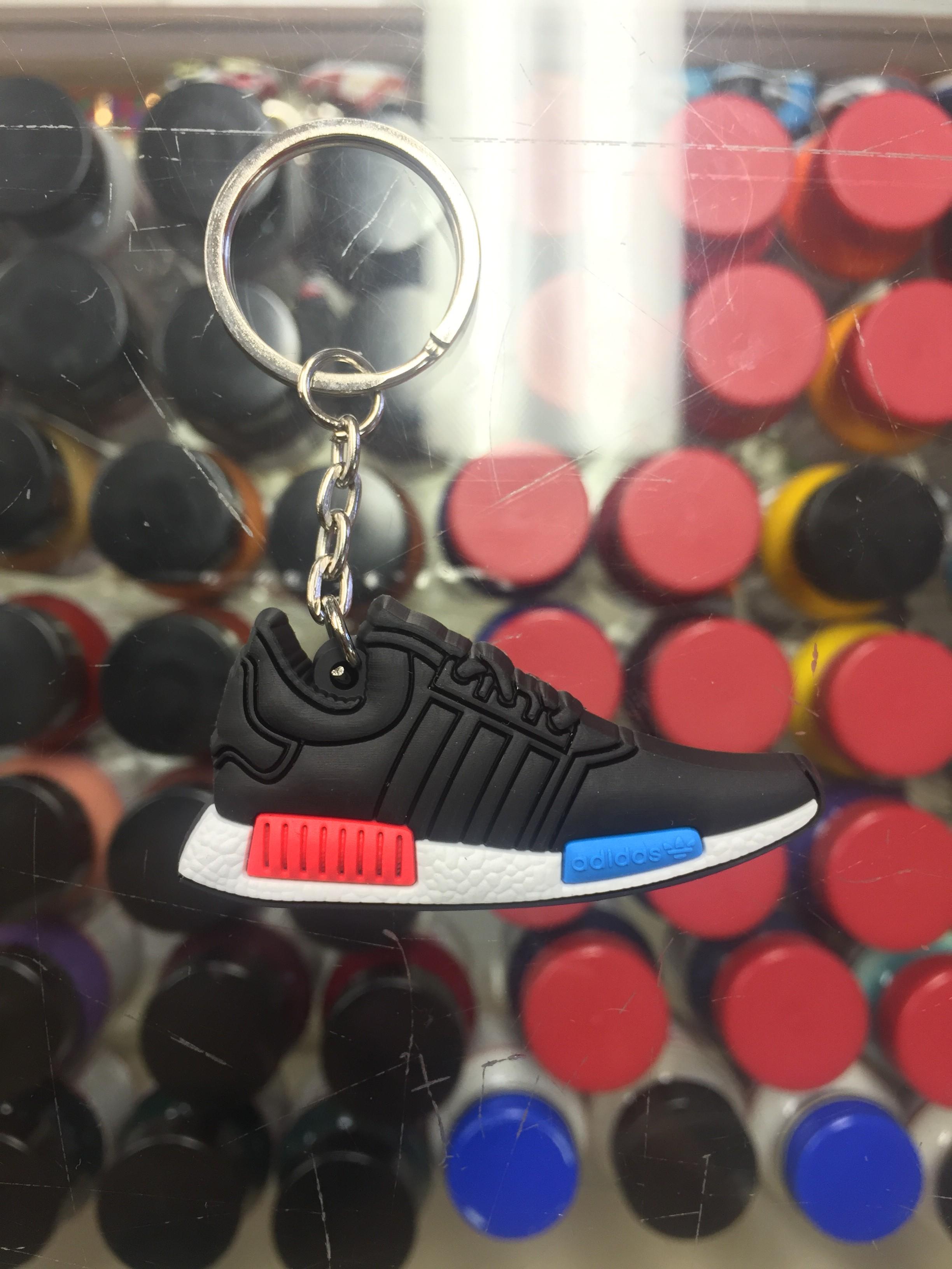 pretty nice 28b26 86d96 2016 Adidas NMD Runner PK Black White Red Blue 2D Keychain