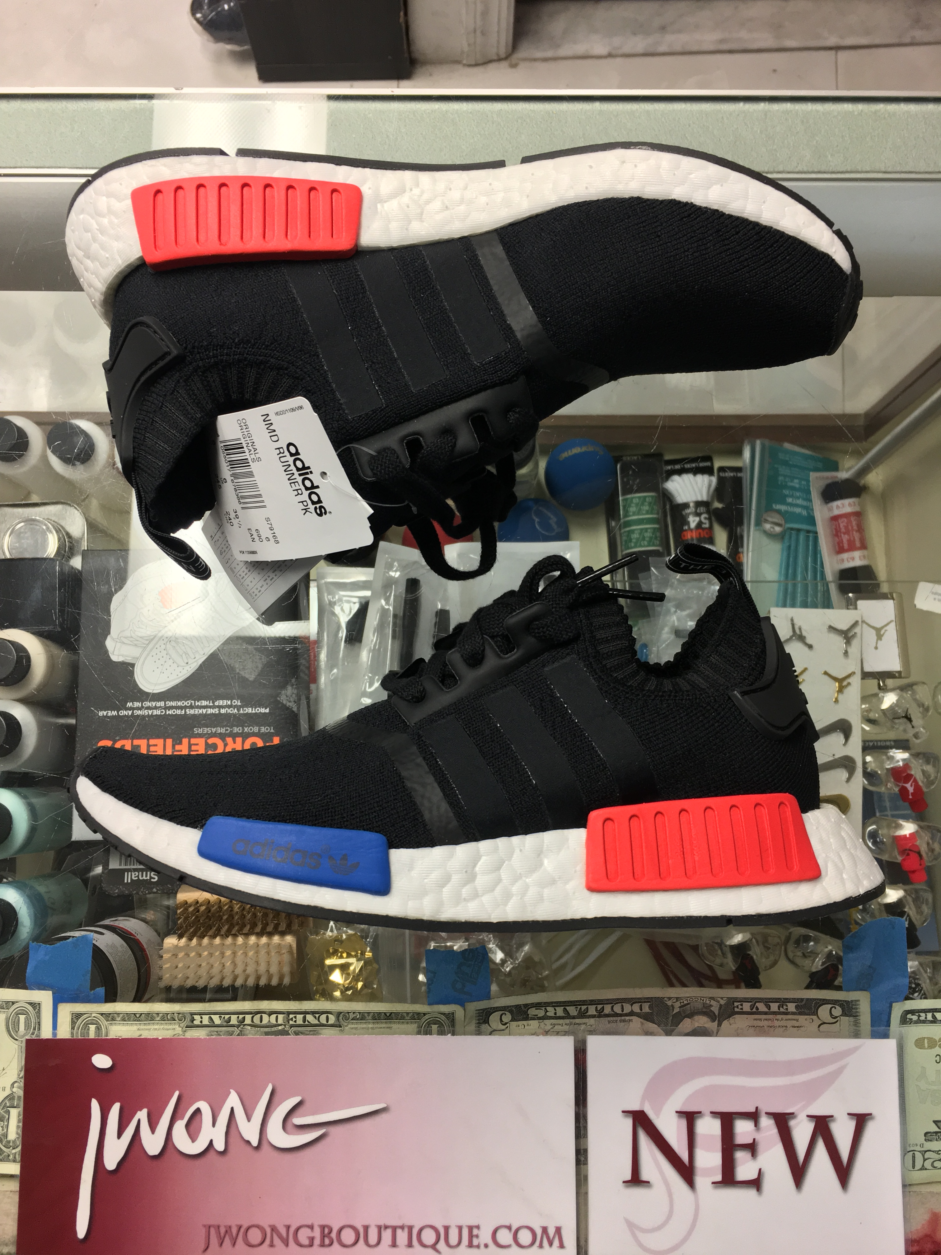 hot sales f7c31 2d7a5 2016 Adidas NMD Runner PK Black White Red Blue Men