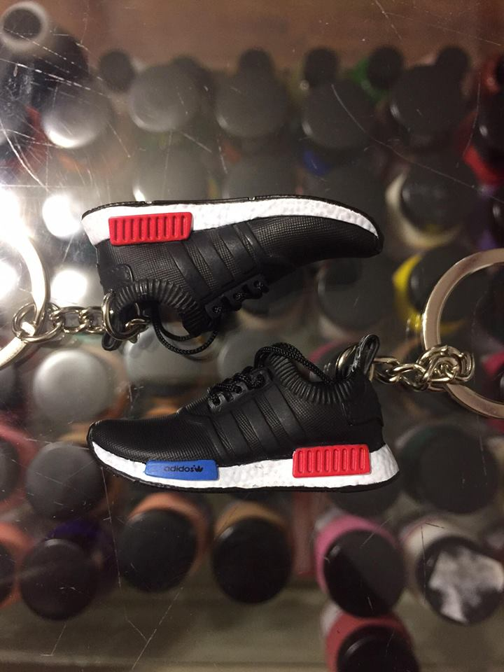 separation shoes 6347b 99132 2016 Adidas NMD Runner PK Black White Red Blue 3D Keychain