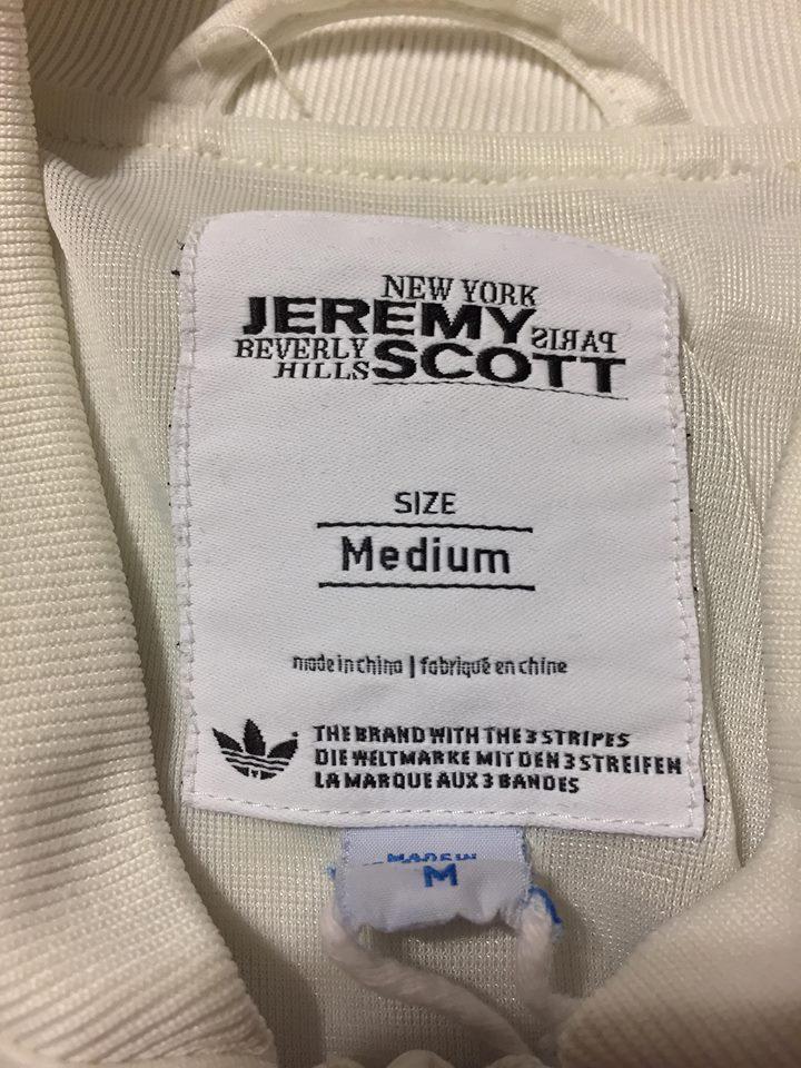 2017 Adidas Originals Jeremy Scott Music Note Track Top Varsity Jacket White