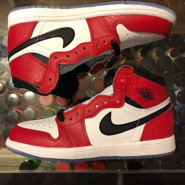 2018 Nike Air Jordan 1 Retro High Spider Man Origin Story Kids Preschool  fdda380d0