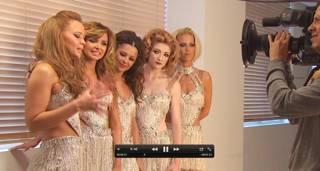 Filming Girls Aloud for Swarovski