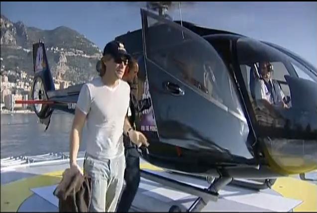 Filming Jon Bon Jovi in Monaco for Swarovski fashion Rocks