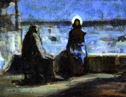 henry-ossawa-tanner-xx-study-for-nicodemus-visiting-jesus-xx-private-collection