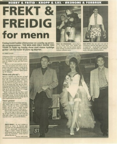 Frekt og freidig for menn 1993
