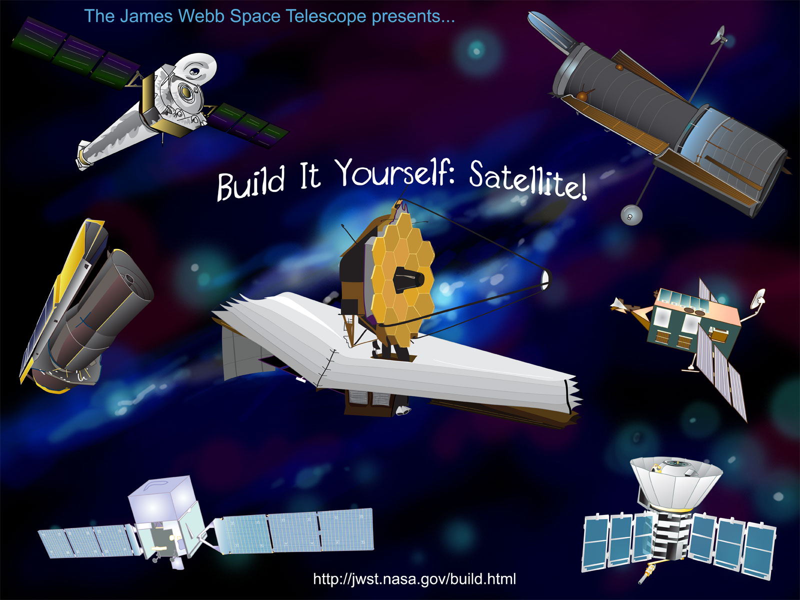 Build It Yourself Satellite Game Webb Telescope Nasa