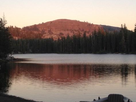 Sunset at Kirkwood lake