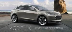 The Model X, a sleek crossover SUV. (Tesla Motors)