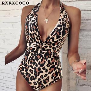 RXRXCOCO Swimsuit Women Plus Size Push Up Swimwear Sexy Leopard Bathing Suit Beachwear Monokini One Piece Swimsuit Women 2021