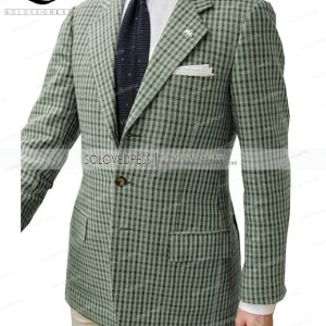 Formal Men's Suits Regular Fit Plaid Wool Tweed Prom Army Green Tuxedos Solid Business Brown Suits for Wedding Grooms Best Man