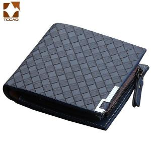 Leather Wallet Men Short 100% Knitting Tide Brand Business Suit wallet Youth Simple Designer Money Clips Discount Hot 2020 New