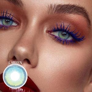 Lareen 2pcs/pair Colored Contact Lenses For Eyes Halloween Green Color Cosmetic Contact Eye Lenses Fashion Lentes De Contacto