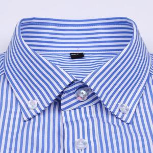 Men's Casual Striped/Plaid Checkered Cotton Shirts Single Patch Pocket Long Sleeve Standard-fit Thin Button-down Gingham Shirt